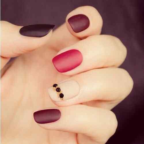 matte color nails (3)