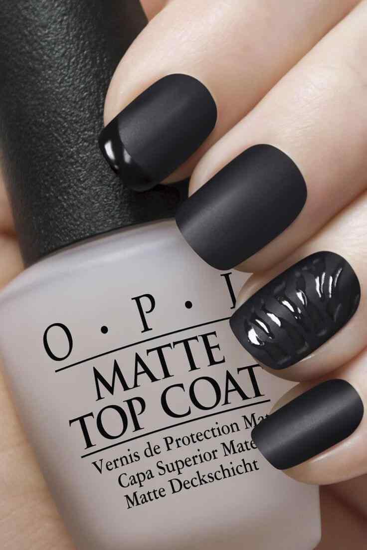 matte nail art (2)