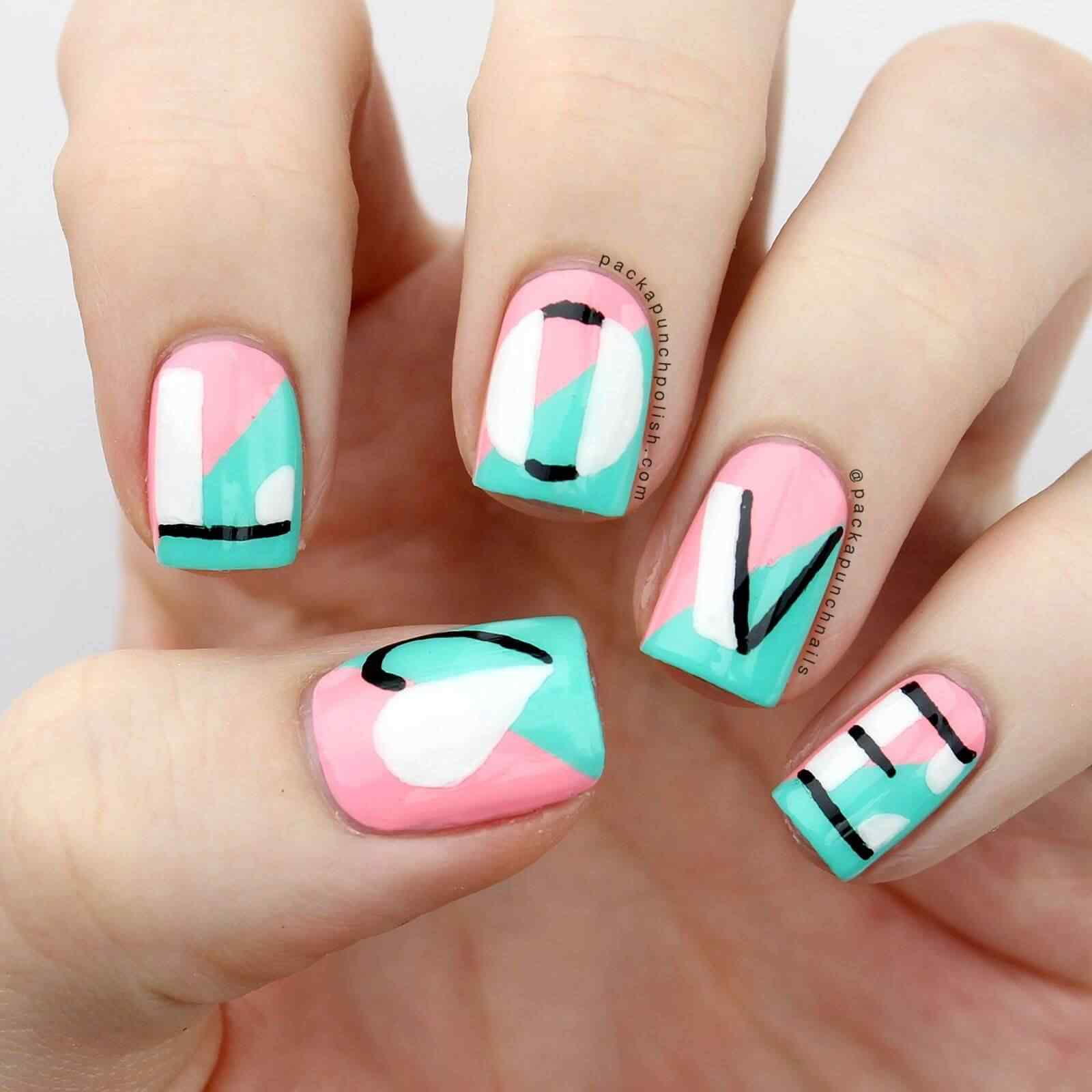 Fuente: http://shortnaildesigns.net/37-cute-and-easy-diy-nail-designs-for-beginners/