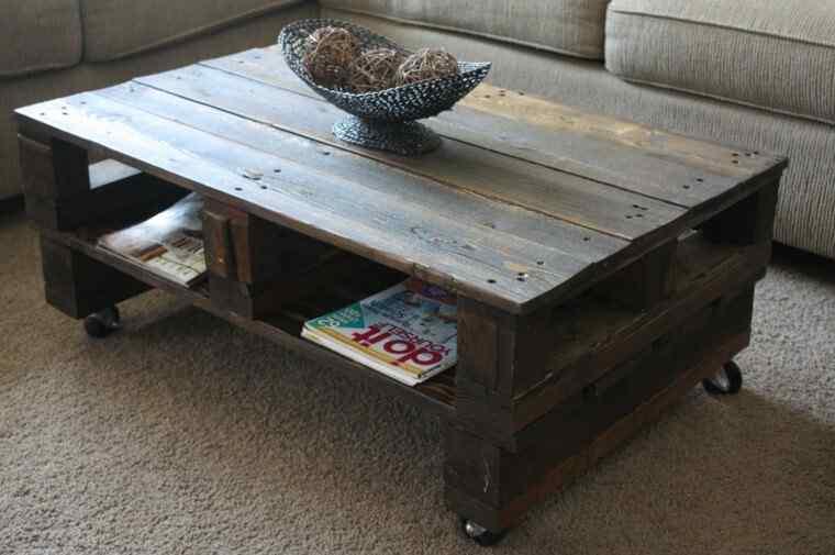 mesa ratonera de living palets
