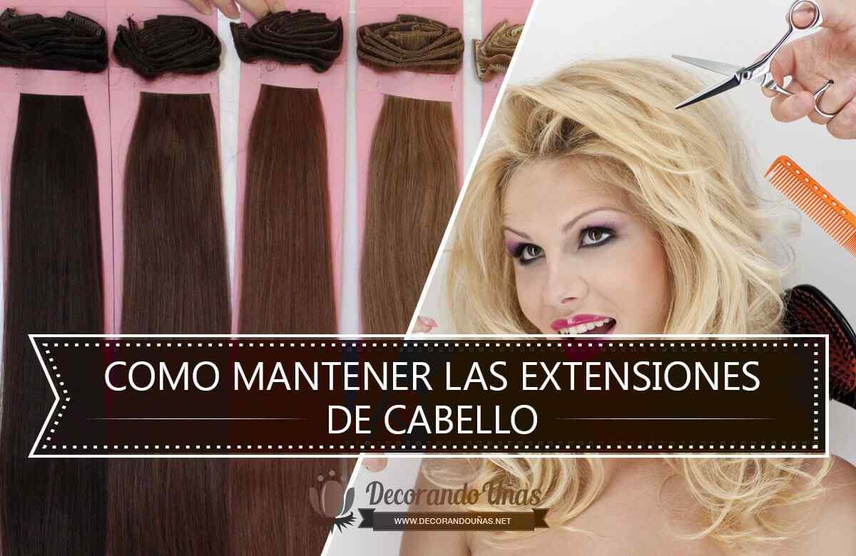 Mantenimiento extensiones de cabello