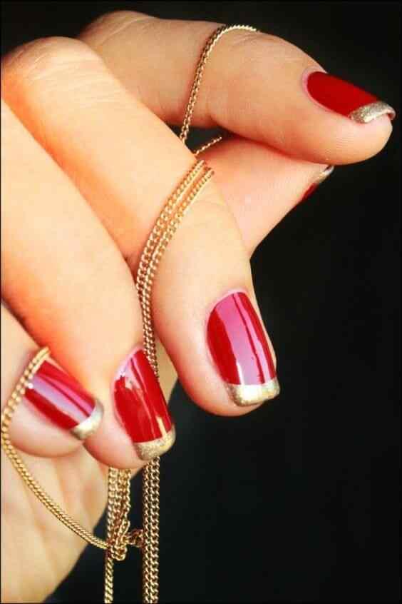 unas pintadas rojo y dorado (2)