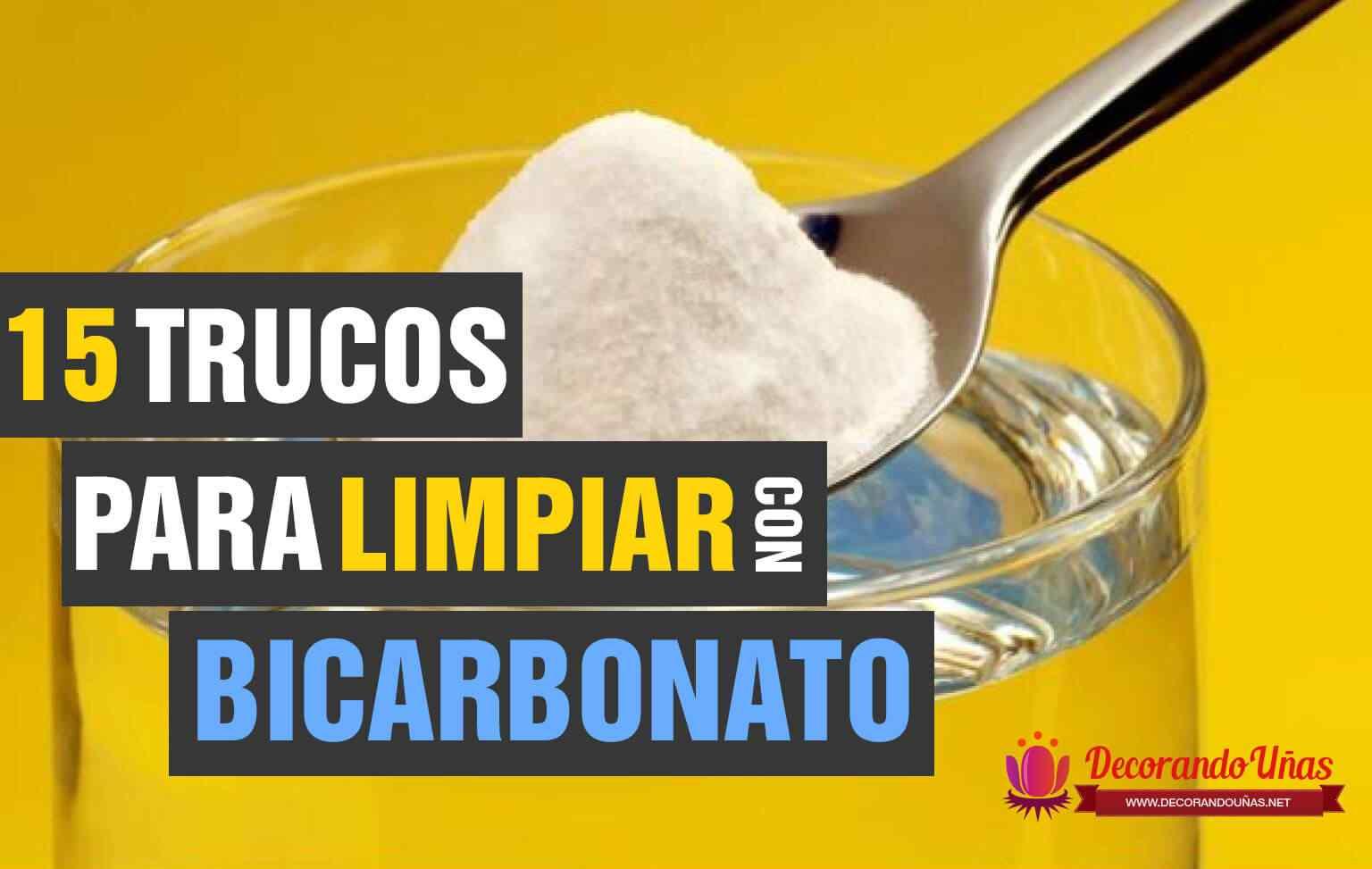 Trucos para limpiar con bicarbonato de Sodio
