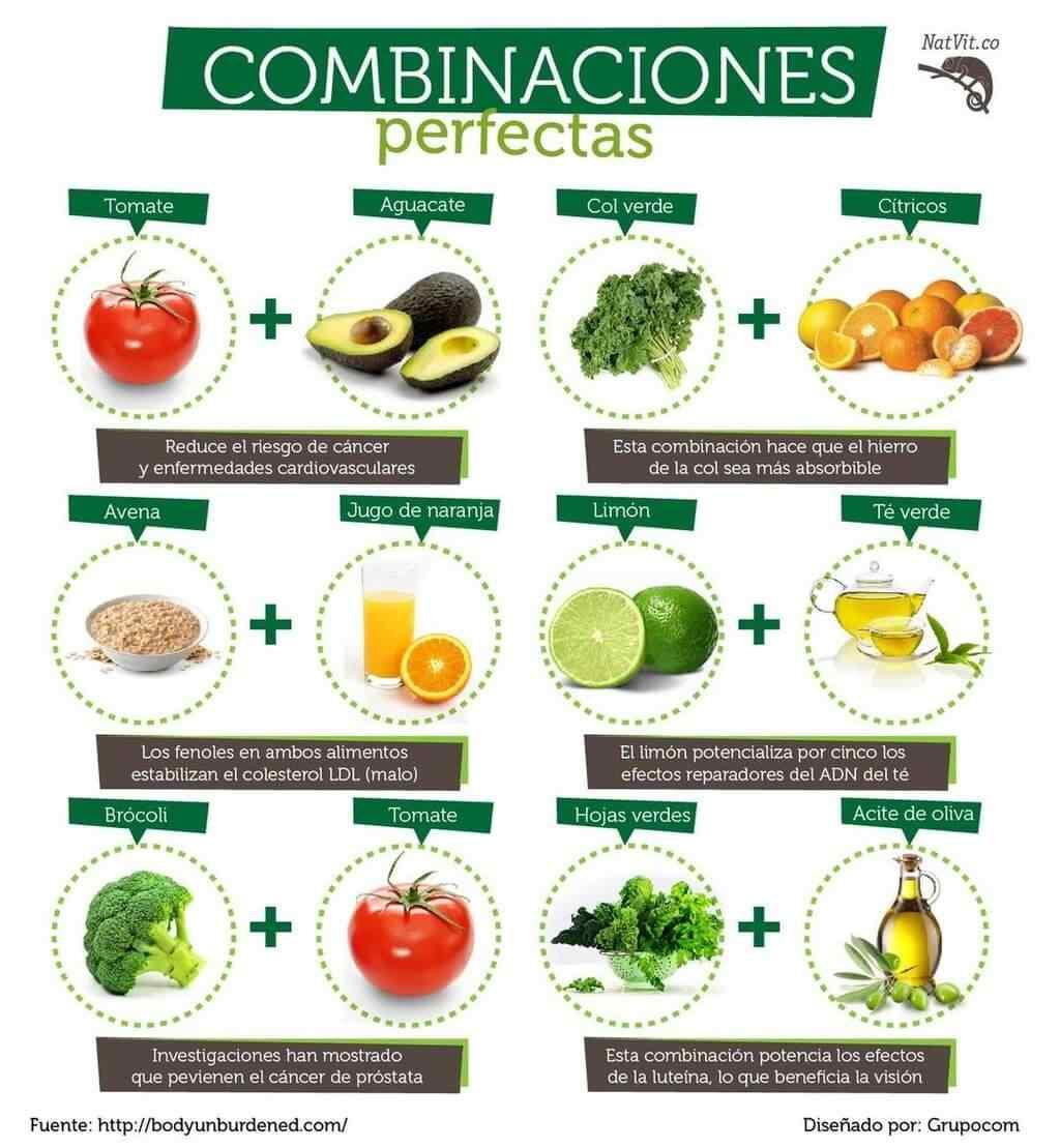 combinacion de alimentos
