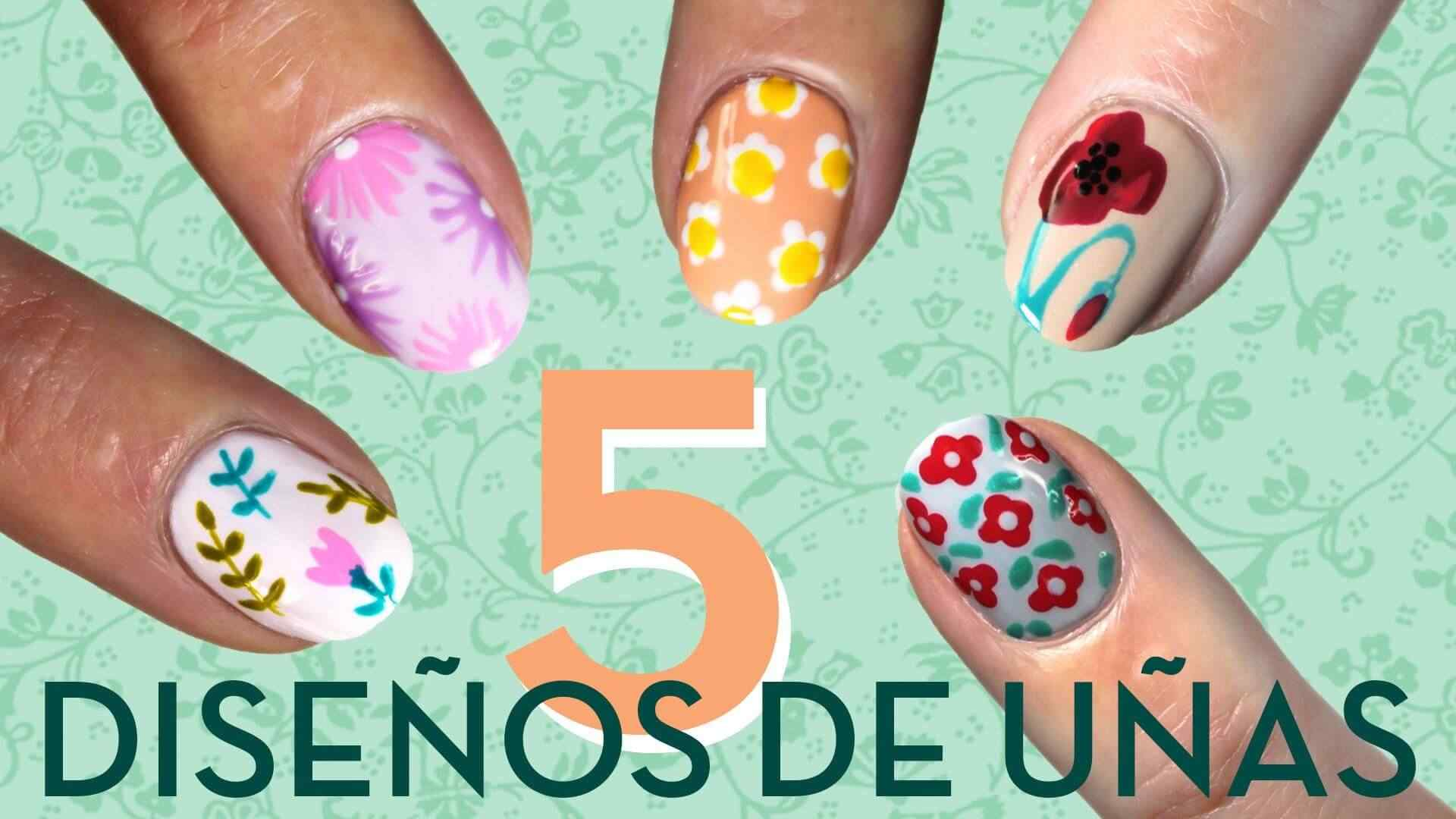 5 Hermosos diseños de uñas con flores
