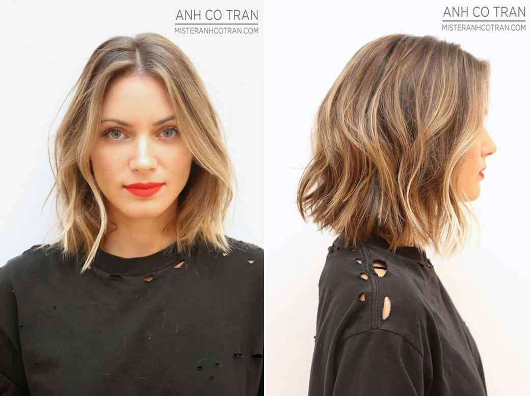 peinados pelo corto ondulado