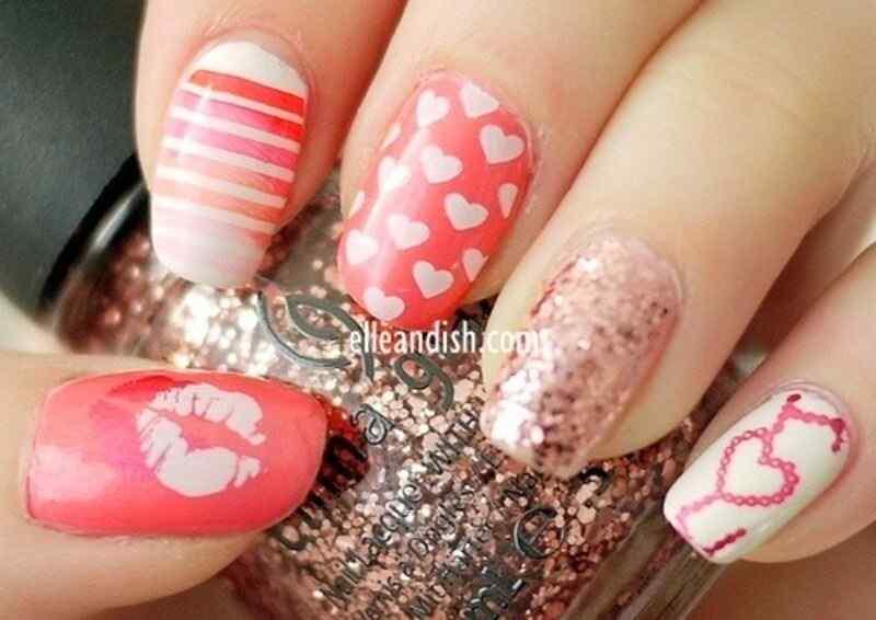nail art con corazones