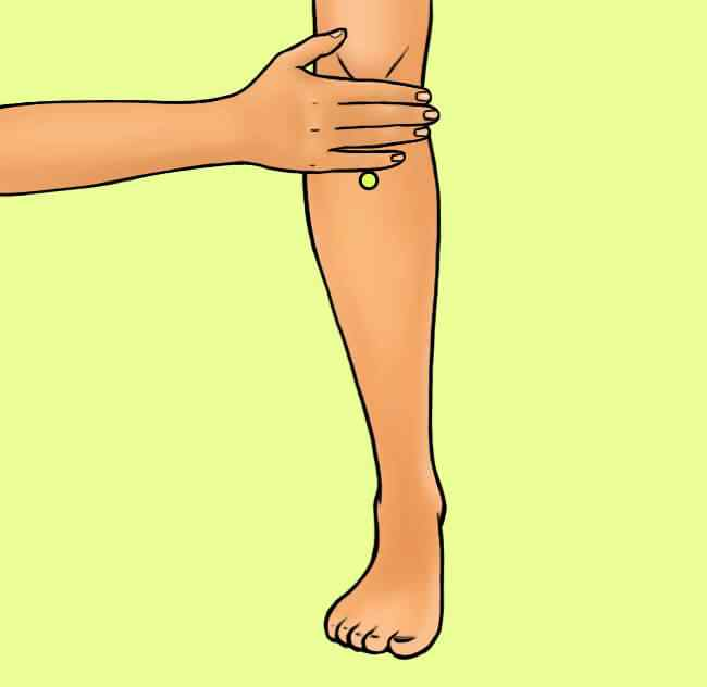 Acupresión en la pierna para bajar de peso