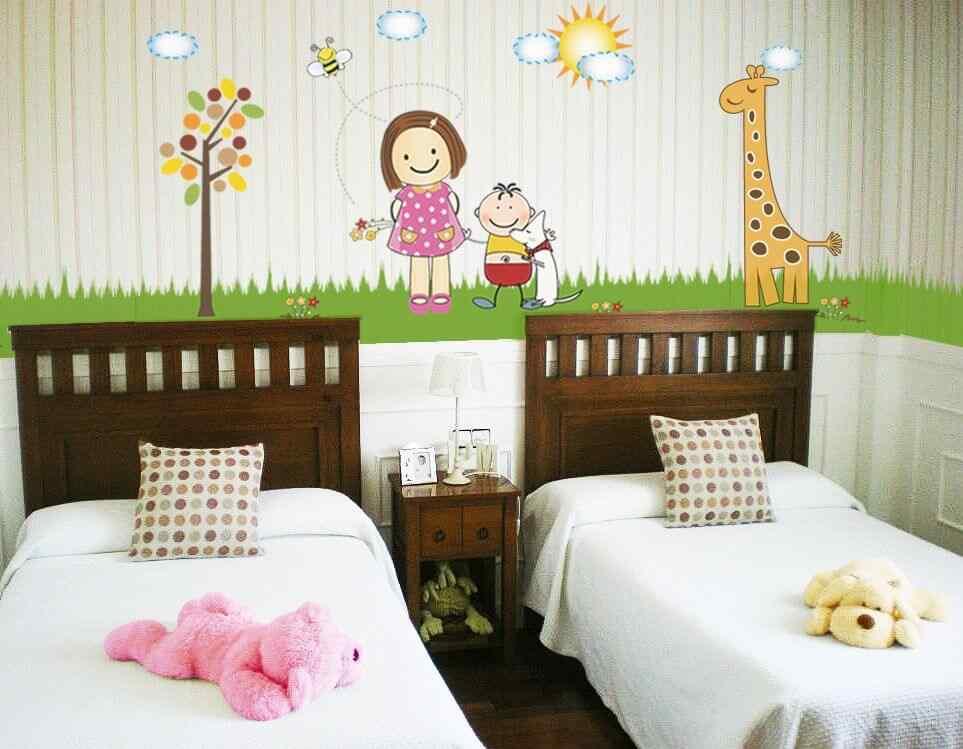 adhesivos para paredes cuarto infantil