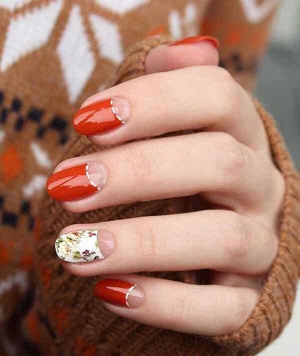 Diseño de media luna en uñas