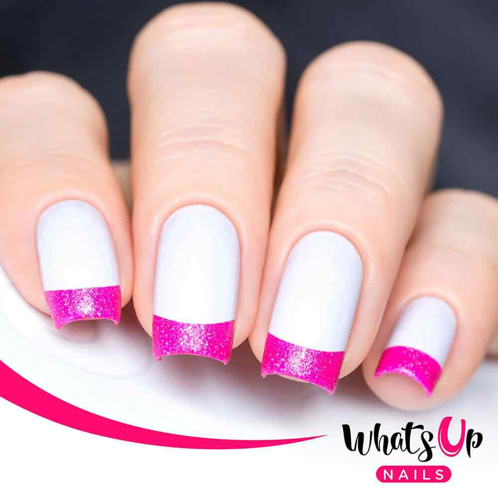 Whats Up Nails – French Tip Tape Nail Stencils Stickers