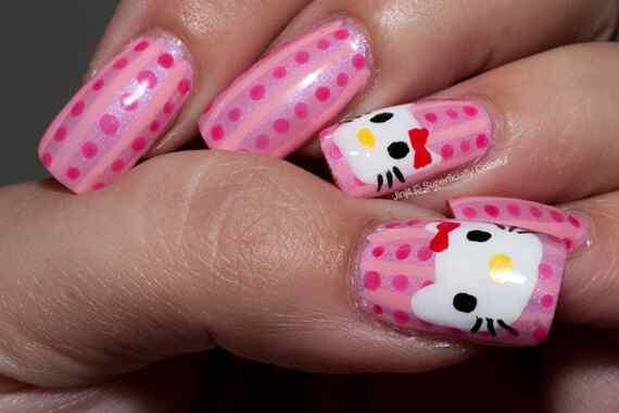 Pink nails unas color rosa (1)