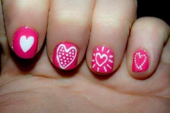 Pink nails unas color rosa (10)