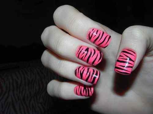 Pink nails unas color rosa (11)