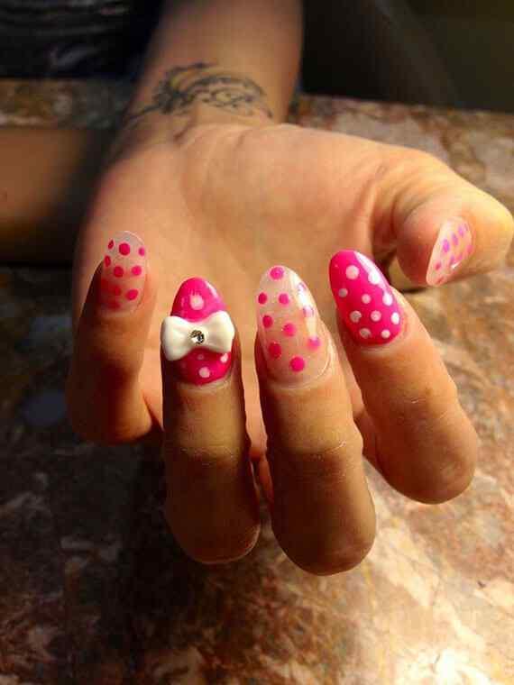 Pink nails unas color rosa (12)