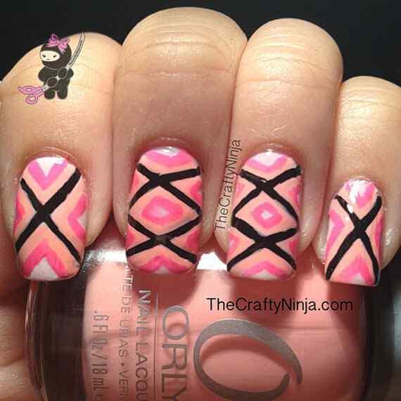 Pink nails unas color rosa (15)