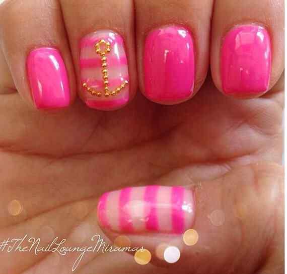 Pink nails unas color rosa (17)