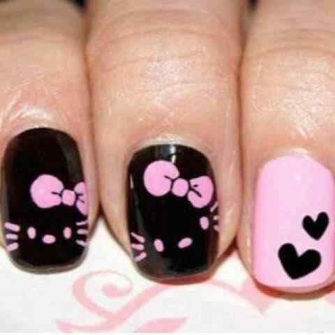 Pink nails unas color rosa (19)