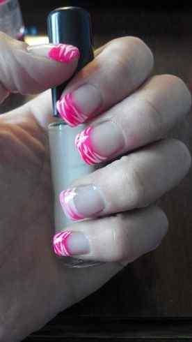 Pink nails unas color rosa (21)
