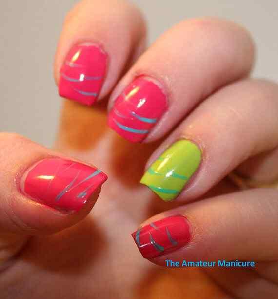 Pink nails unas color rosa (23)