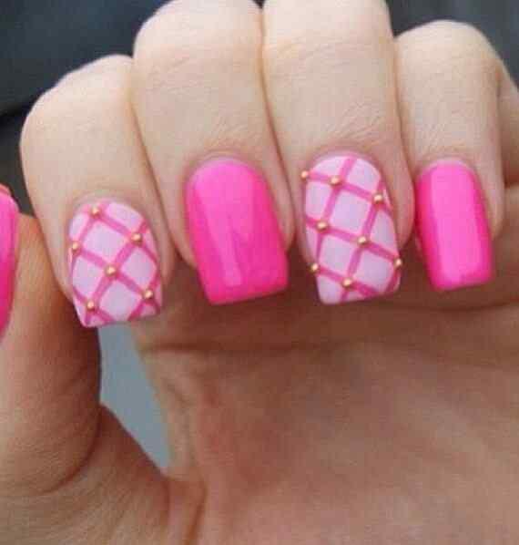 Pink nails unas color rosa (27)