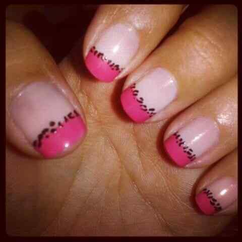 Pink nails unas color rosa (28)