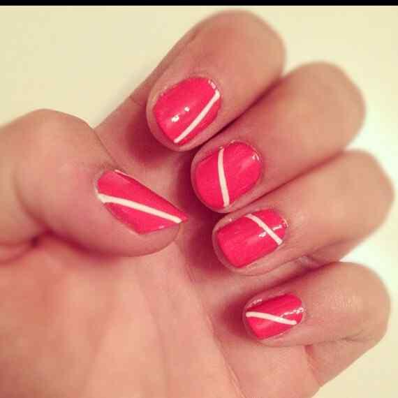 Pink nails unas color rosa (34)