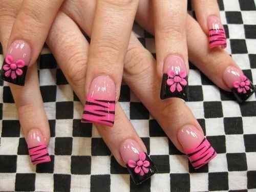 Pink nails unas color rosa (36)