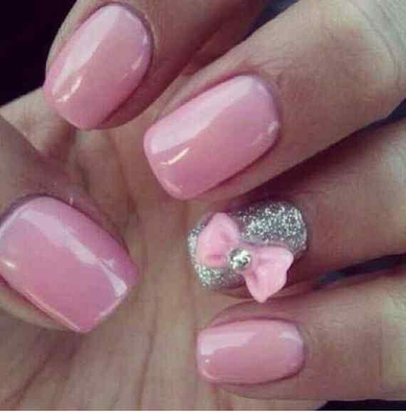 Pink nails unas color rosa (37)