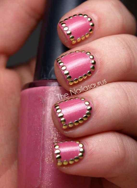 Pink nails unas color rosa (39)