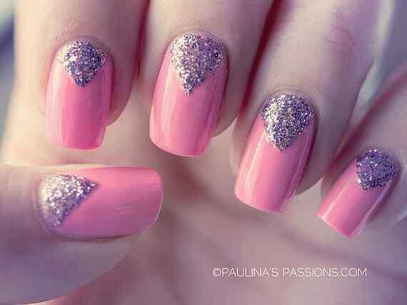 Pink nails unas color rosa (44)