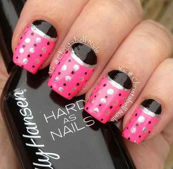 Pink nails unas color rosa (45)