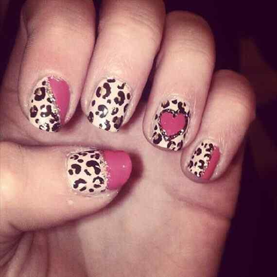 Pink nails unas color rosa (47)