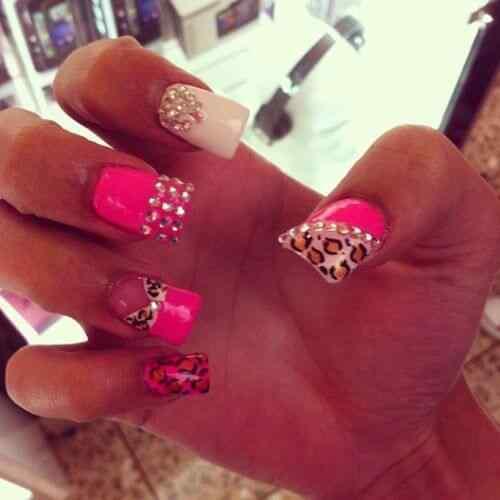 Pink nails unas color rosa (49)