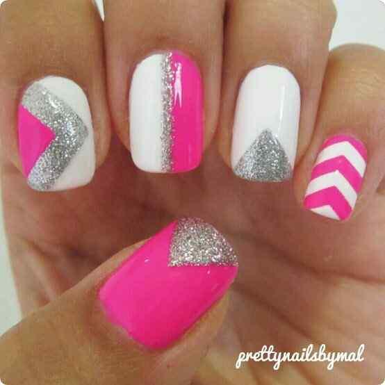 Pink nails unas color rosa (51)