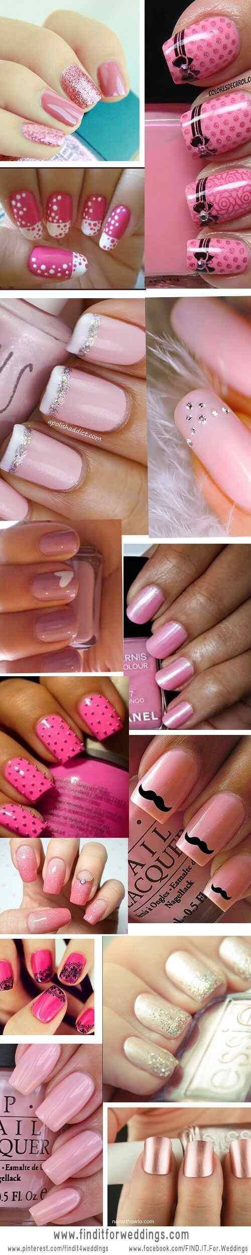 Pink nails unas color rosa (52)