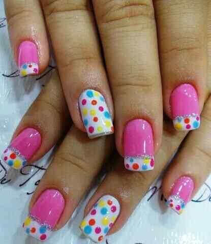Pink nails unas color rosa (55)