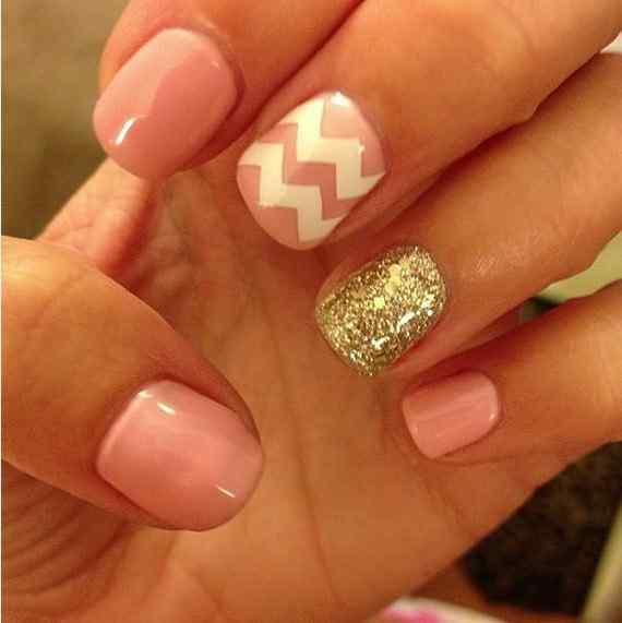 Pink nails unas color rosa (56)