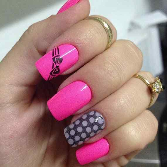 Pink nails unas color rosa (6)