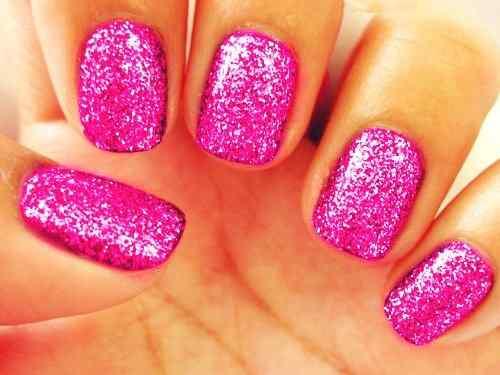 Pink nails unas color rosa (60)
