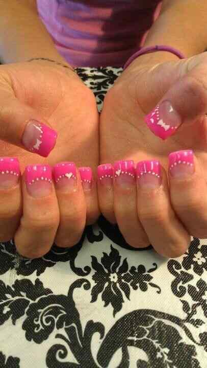 Pink nails unas color rosa (62)