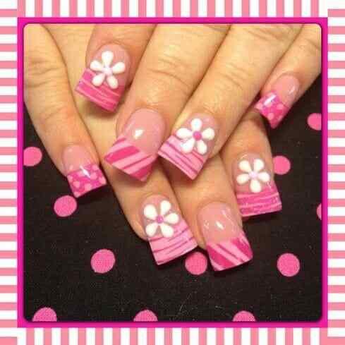 Pink nails unas color rosa (66)