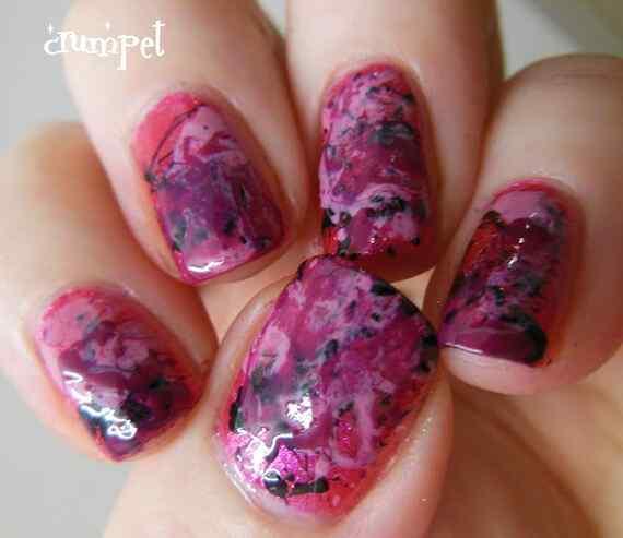 Pink nails unas color rosa (67)