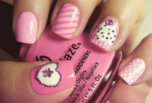 Pink nails unas color rosa (70)