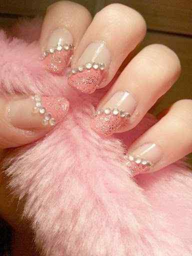 Pink nails unas color rosa (75)