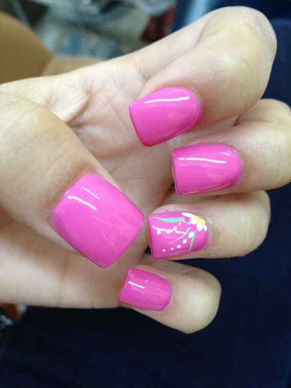 Pink nails unas color rosa (79)
