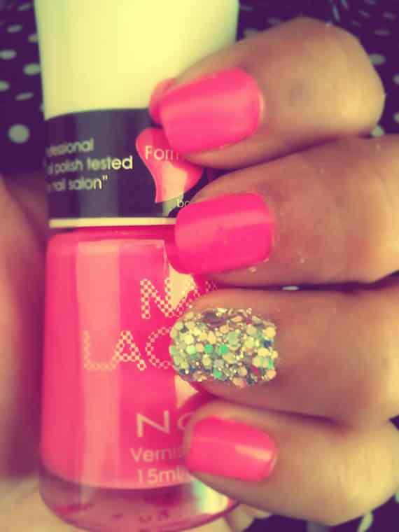 Pink nails unas color rosa (8)