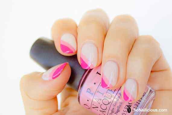 Pink nails unas color rosa (80)