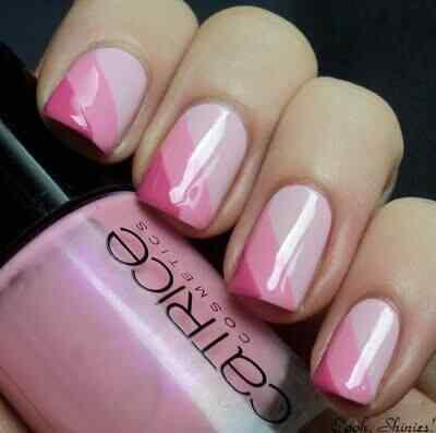 Pink nails unas color rosa (82)
