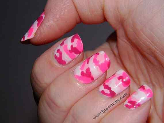 Pink nails unas color rosa (85)
